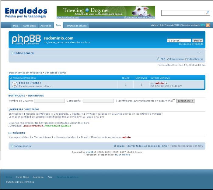 Integrar un Foro phpBB en WordPress | Enralados