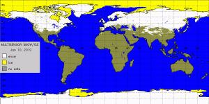 Mapa de nieve
