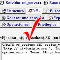 Cambiar URL WordPress